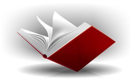 glossary: book open Stock Photo