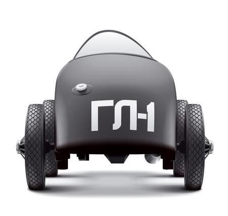 Antique Auto racing GAZ GL-1. Back view