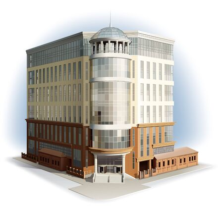 modern: Modern building. Detailed illustration Stock Photo