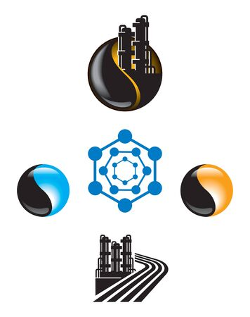 synthesis: Emblem set for Oil and Gas industry