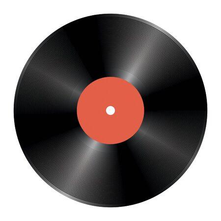 blanc: Music vinyl disc