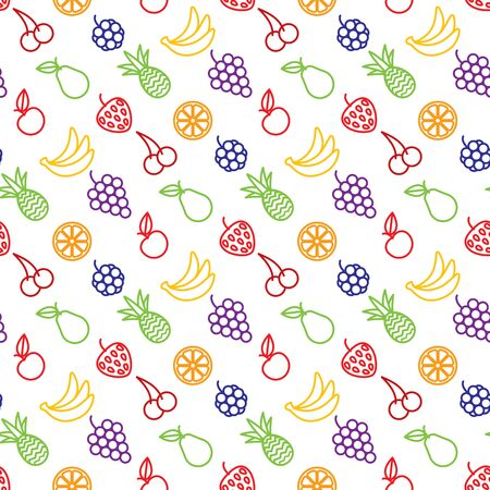 aple: Fruits background seamless