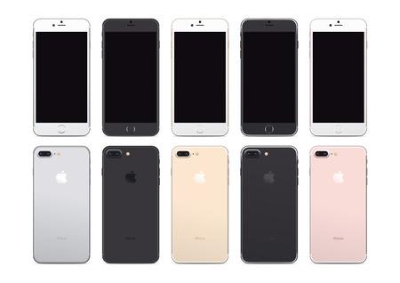 Iphone 7 プラス顔と裏面の図