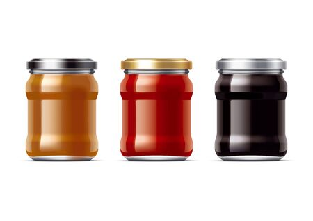 confiture: Preserving packaging set. Small Stock Photo