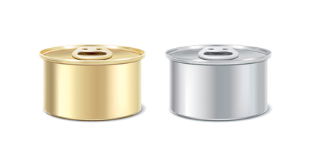 preserved: Preserves packages. Tin can in two colors