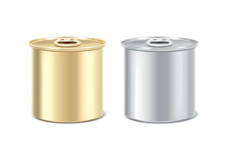 tincan: Preserves packages. Tin can in two colors