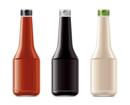 Blank bottles for sauces