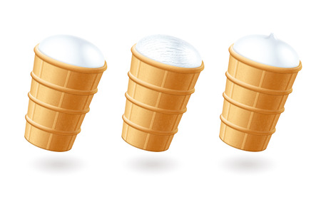 Ice cream. Waffle cup. Stock Photo