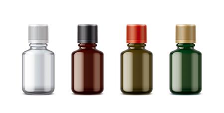 Medicine bottles mockup. Small size.