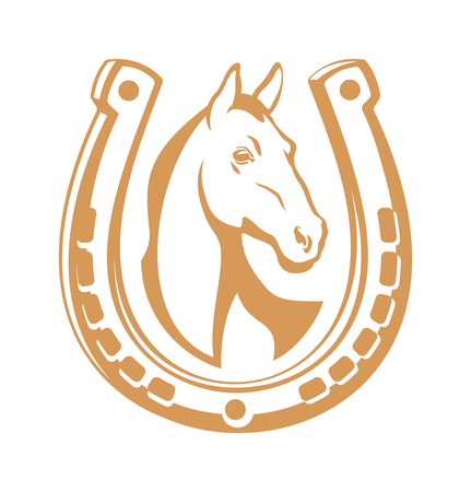 Horse light emblem Stock Photo