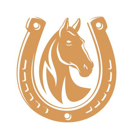 Horse dark emblem Banco de Imagens