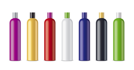 Clear Cosmetic Colored Bottles