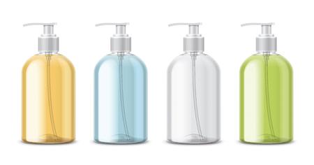 Clear Transparent Bottles for Soap