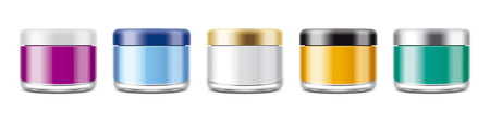 化粧品のクリームやゲルの Jar のモックアップをオフします。非透明瓶セット。 写真素材