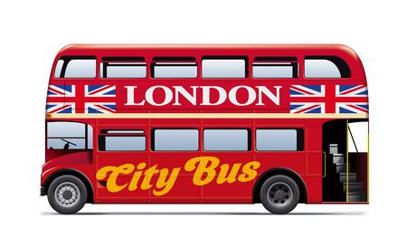 ロンドン市内バス 写真素材