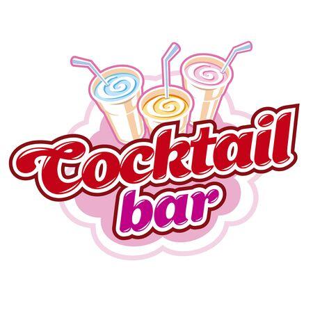 Cocktail bar emblem Stock Photo