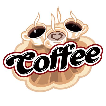 Coffee hot logo Stock Photo