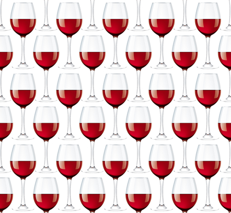 Wineglasses seamless background Stock Photo