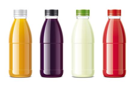 Juices bottles mockups set