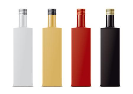 Blank bottles no transparent