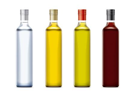Bottles of mockups for oil and other foods