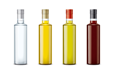 Bottles of mockups for oil and other foods. Small Size.