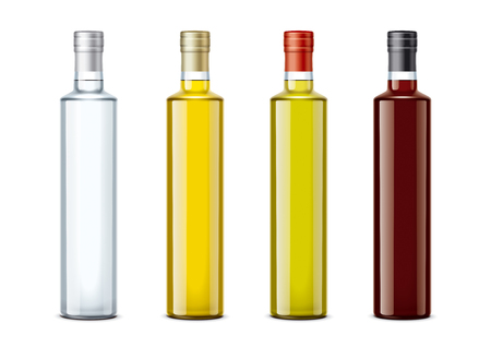 Bottles of mockups for oil and other foods. Cork cap version. Zdjęcie Seryjne