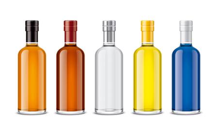 Mockup bottles of alcoholic beverages Zdjęcie Seryjne