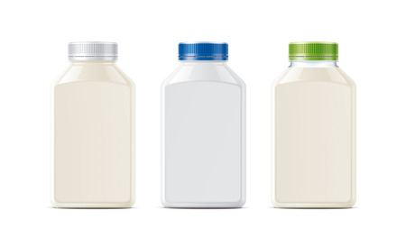 Bottles for milk, dairy and other drinks. Small size version.