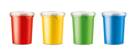 Cups for dairy and other foods. Big size cups version