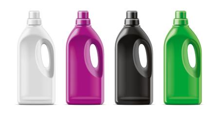 Maqueta de botellas de plástico.