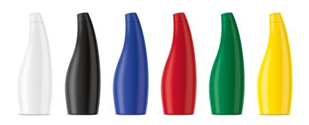 Plastic bottles mockup