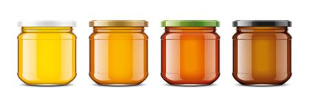Clear Honey Jar mockup. Small size