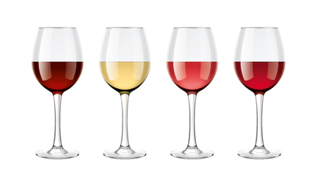 Wine glasses mockups set