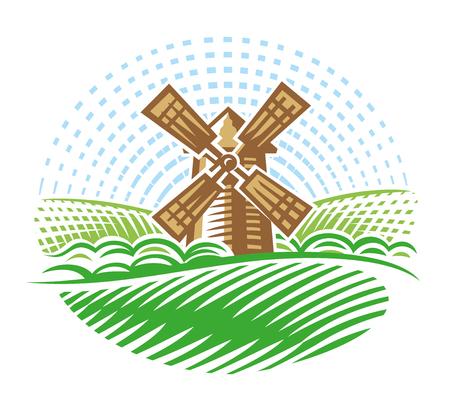 Windmill simple illustration