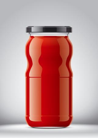 Clear jar mockup
