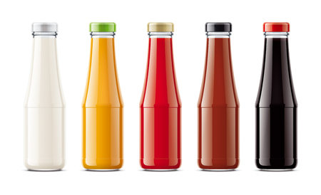 Glass bottles for sauces