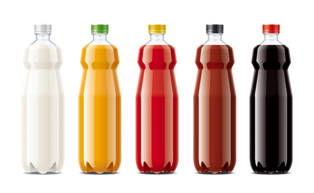 Bottles for juice, dairy drinks and other.