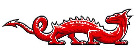 Dragon abstract illustration. Version