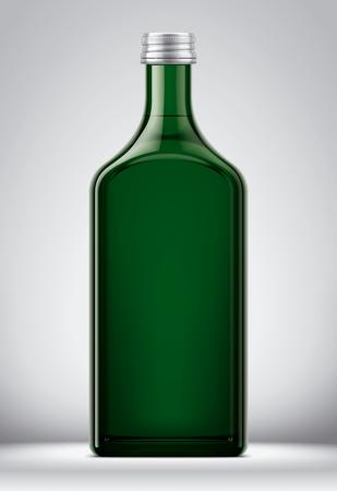 Bottle mockup on background.
