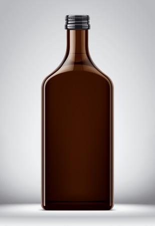 Bottle mockup for alcohol drinks on background. 版權商用圖片
