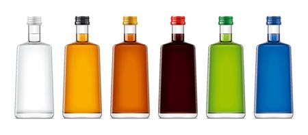 Bottles mockups for alcohol drinks.