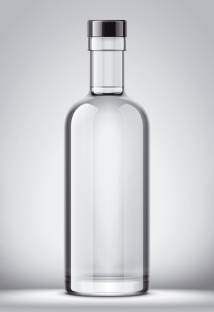 Glass bottle mockup.