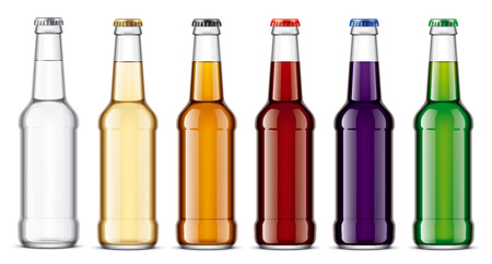 Glass bottles mockup