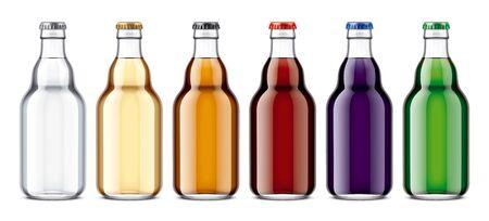 Glass bottles mockup. Stock Photo - 128292089