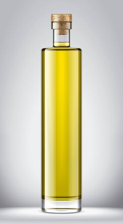 Glass oil bottle mock-up Фото со стока - 130011068