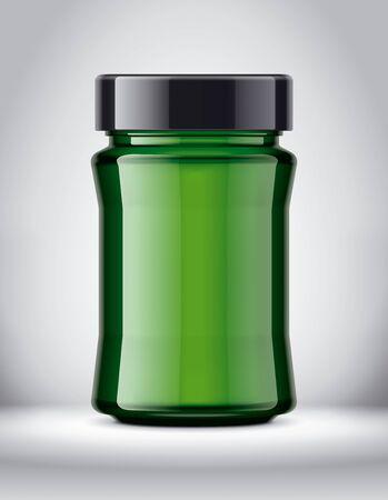 Glass Jar Mock-up on Background.