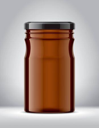 Glass Jar Mock up on Background.