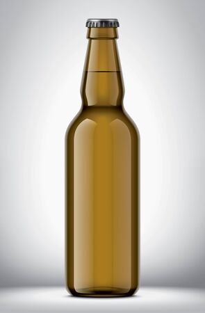 Glass beer bottle on background Stok Fotoğraf - 130011776