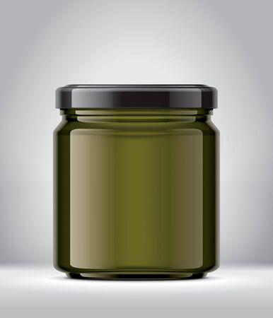 Glass Jar on Background. Reklamní fotografie